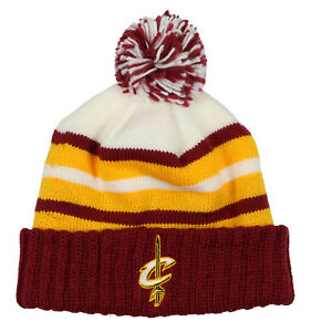 3856bb0878fc66 Image is loading MITCHELL-amp-NESS-Cleveland-Cavaliers-Block-Cuffed-Pom-