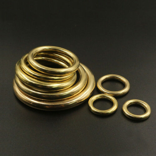 Solid Brass Cast Welded Closed Round O Ring Strap Bag Belt Collars Crafts 7-51mm