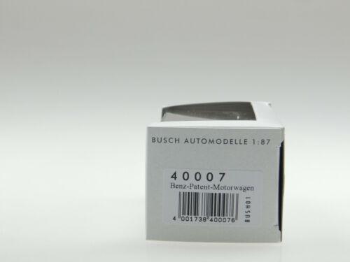 Busch H0 40007 Benz-Patent-Motorwagen NEU und OVP