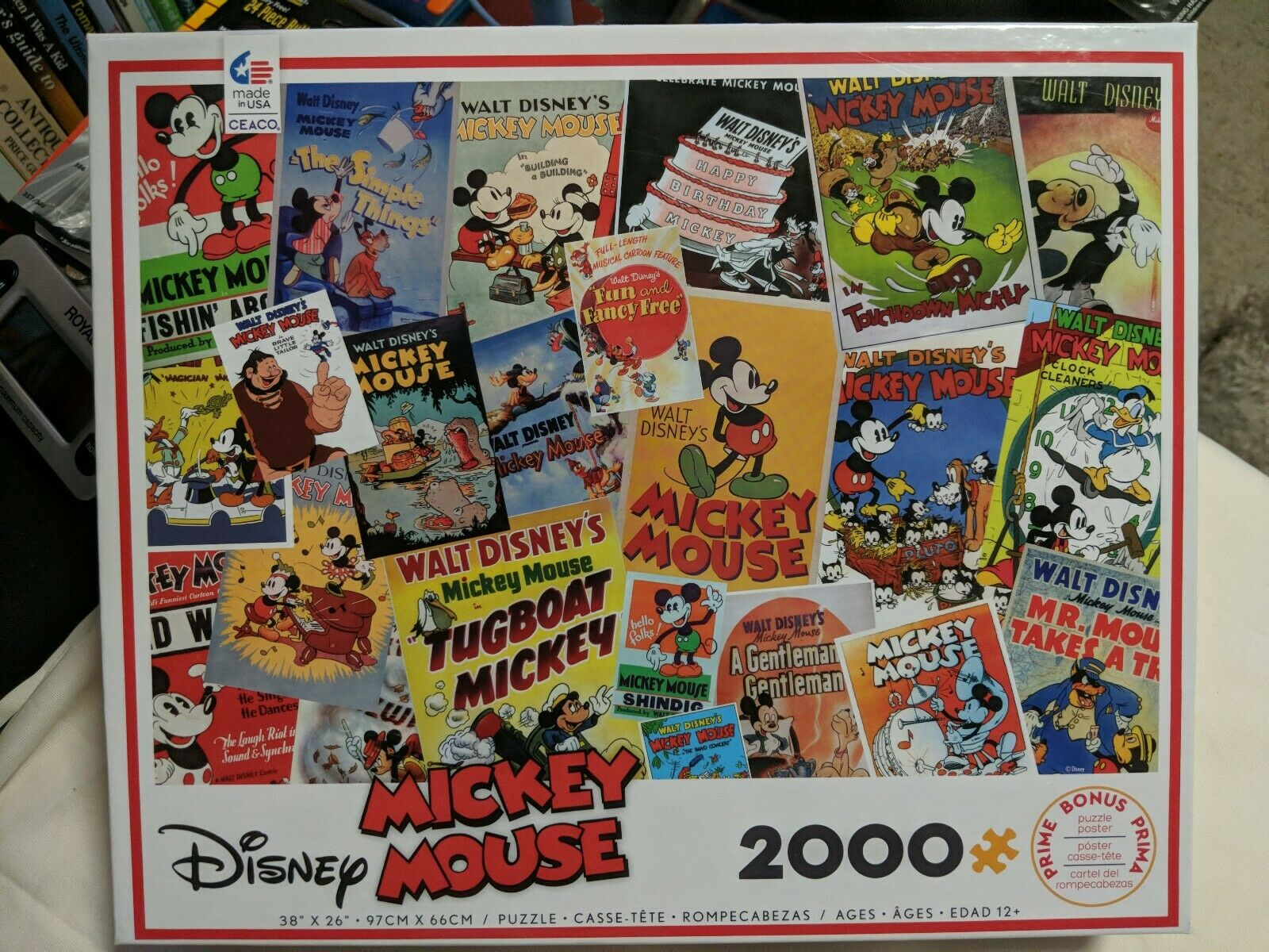 2000 Pieces Ceaco Disney Mickey Mouse Jigsaw Puzzle