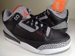best website d1879 bcbf2 Details about Nike Air Jordan Retro 3 OG III Black Cement Red White SZ 7.5  (854262-001)