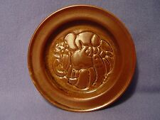 Vintage Iron  Mountain Stoneware Round Dish/ Roan Ashtray?  Nancy Patterson Lamb