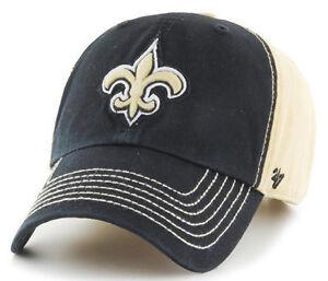 NEW-ORLEANS-SAINTS-NFL-2-TONE-DAD-STRAPBACK-CAP-HAT-CLEAN-UP-NEW-039-47-BRAND
