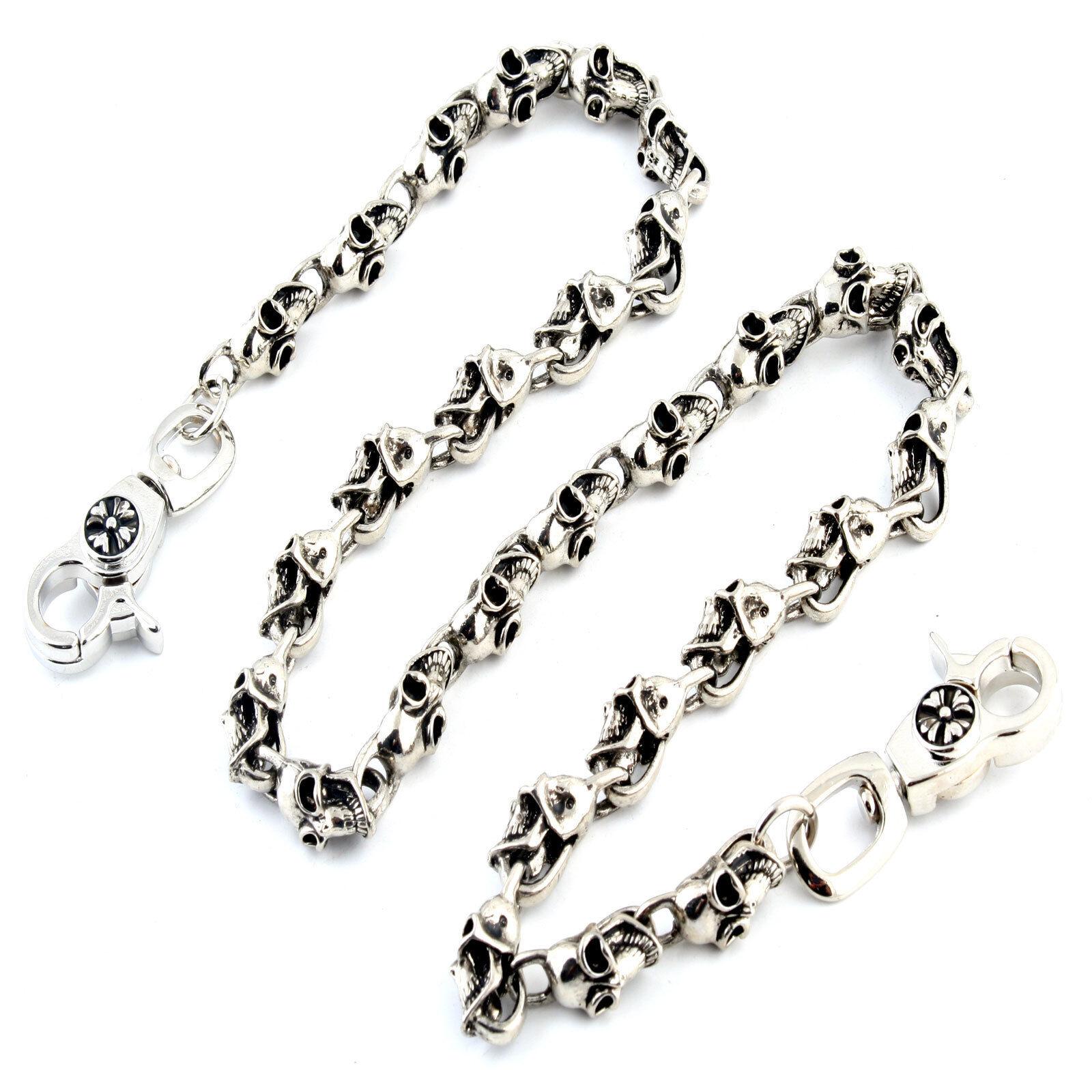 Multi Skull Gothic EMO Biker Trucker Key Jean Wallet Chain (27.5