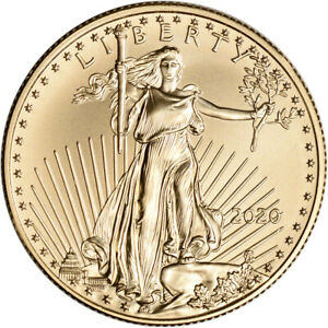 2020 American Gold Eagle 1/2 oz $25 - BU