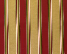 """RICHLOOM COLTRANE BRICK RED STRIPES OUTDOOR FURNITURE FABRIC BY THE YARD 54""""W"""
