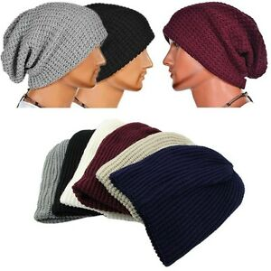 Men-Slouch-Skull-Cap-Oversize-Long-Beanie-Women-Baggy-Cap-Crochet-Knit-Ski-Hat