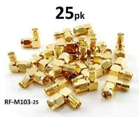 25-pack Sma Male To Female Right Angle 90-degree Adapter W/ Gold Plated Contacts