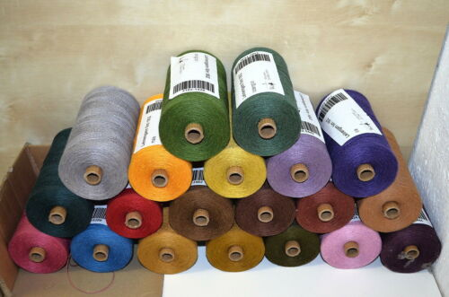 0,5 kg lin fil Presque comme neuf 18//2 100/% lin CA 250gr = 2250 m kg.//44 € POS 75