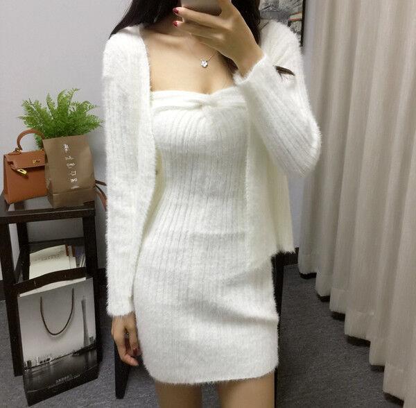 Kleid kurz kleid élégant weiß jersey jacke weich mode hülle 4941