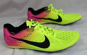 17d839d30ce5 Nike Zoom Victory ELITE 2 Distance Track XC Shoes Yellow Pink 10.5 ...