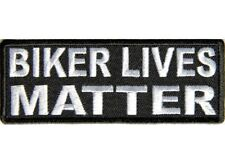 "(A24) BIKER LIVES MATTER 4"" x 1.5"" iron on patch (5053) Biker Vest Cap patch"