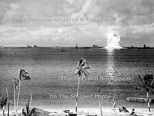 Photo 18x24 A-Bomb Test Shot Baker - Rare View At  .5 Sec Marshall Islands, 1946