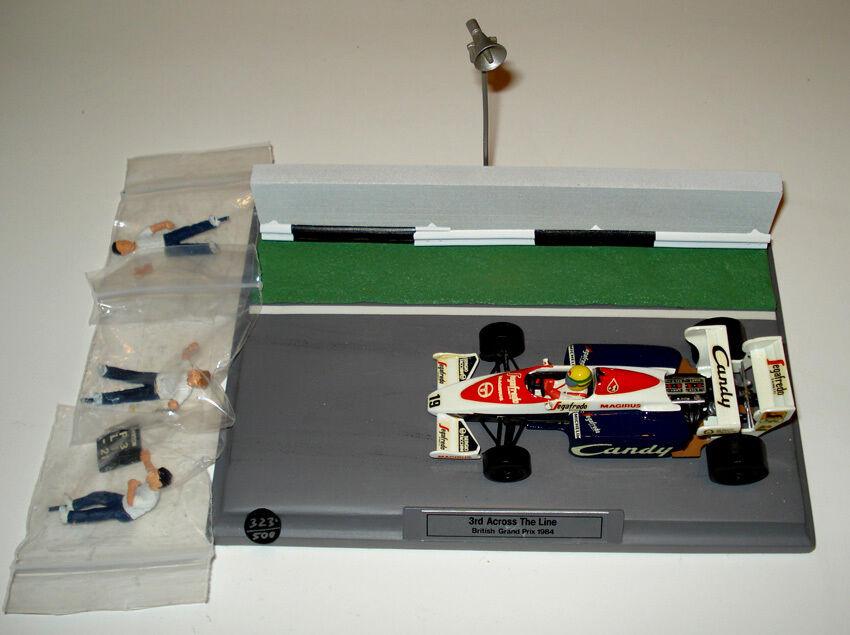 TOLEuomo TG 84 - - - DIORAMA Senna British GP'84 - 1 43 SMTS Factory built n°323 500 57a2c0