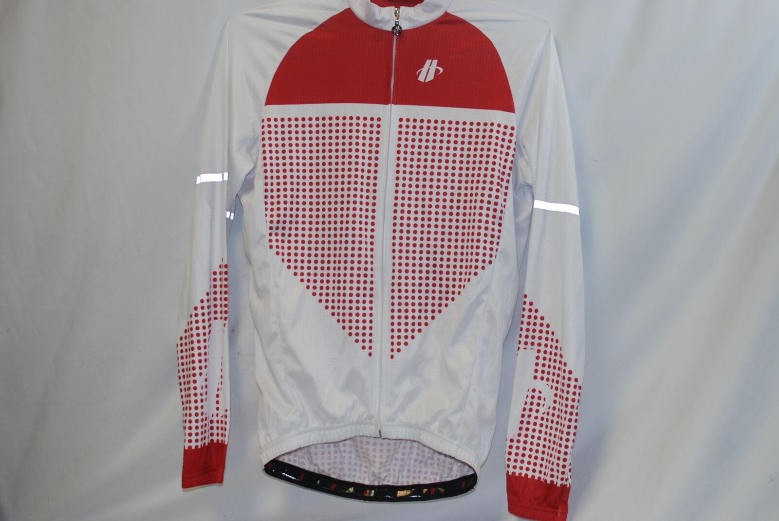 Hincapie Ls Vantage Maglione da Ciclismo M  Herren Rosso Bianco Manica Lunga Nuovo
