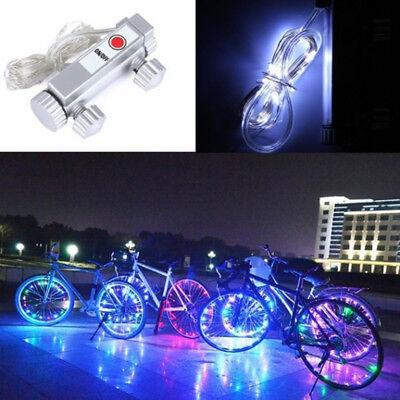 Bicycle 20 LED Bike Cycling Rim Lights LED Wheel Spoke Light String Lamp 6 Color