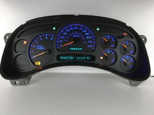 03 04 05 Sierra Silverado Speedometer Instrument Gauge Cluster LEDs REBUILT