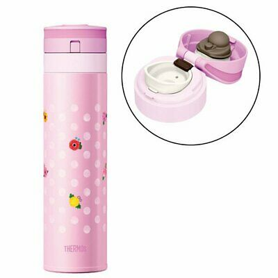 New Thermos Stainless Steel Water Bottles 0.45L JNS-450G-F-P flower pink HK*1