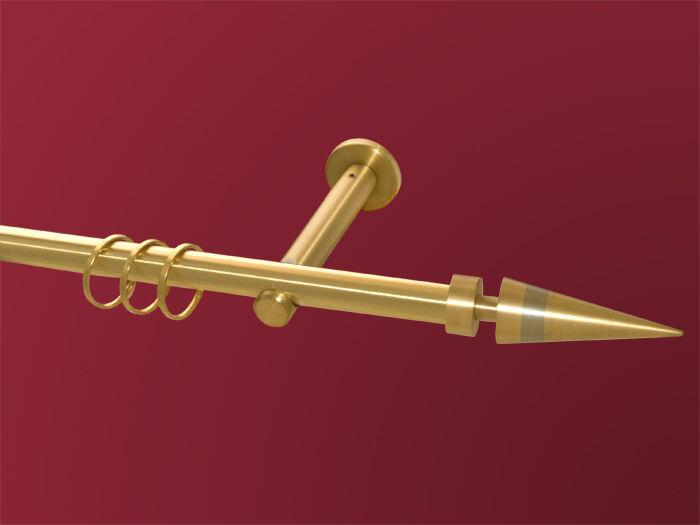 Gardinenstange Gardinenstange Gardinenstange Kegel biFarbe Messing Edelstahl  1-lfg Messing matt massiv 16mm  | Sehen Sie die Welt aus der Perspektive des Kindes  c06a1d