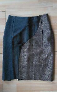 Neuve-Jupe-crayon-triple-matiere-originale-CUSTO-Taille-XS-soit-34-36-doublee