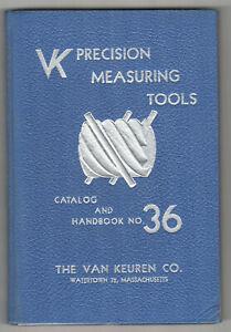 1955-VAN-KEUREN-Precision-Measuring-Tools-TOOL-Catalog-WATERTOWN-MA-Micrometers