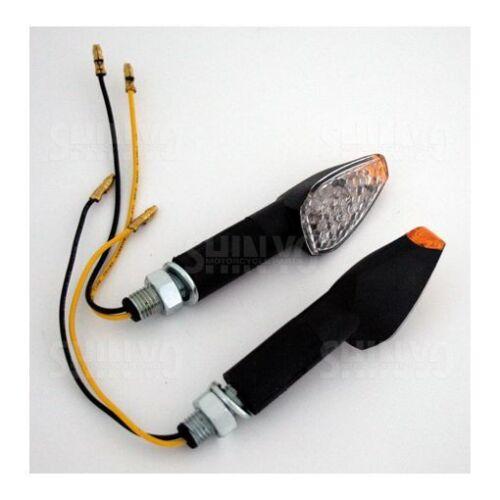 Longue Manche 203-892 DEL clignotants Peak noir paire e-vérifié moto