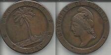 LIBERIA RARO 2 CENTS 1862 qSPL