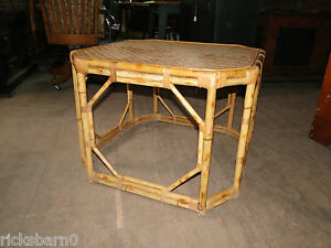 MID-CENTURY-BAMBOO-AND-RATTAN-TABLE