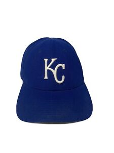 Blue-Kansas-City-Royals-Logo-Embroidered-Baseball-Hat-Cap-Adjustable-EUC