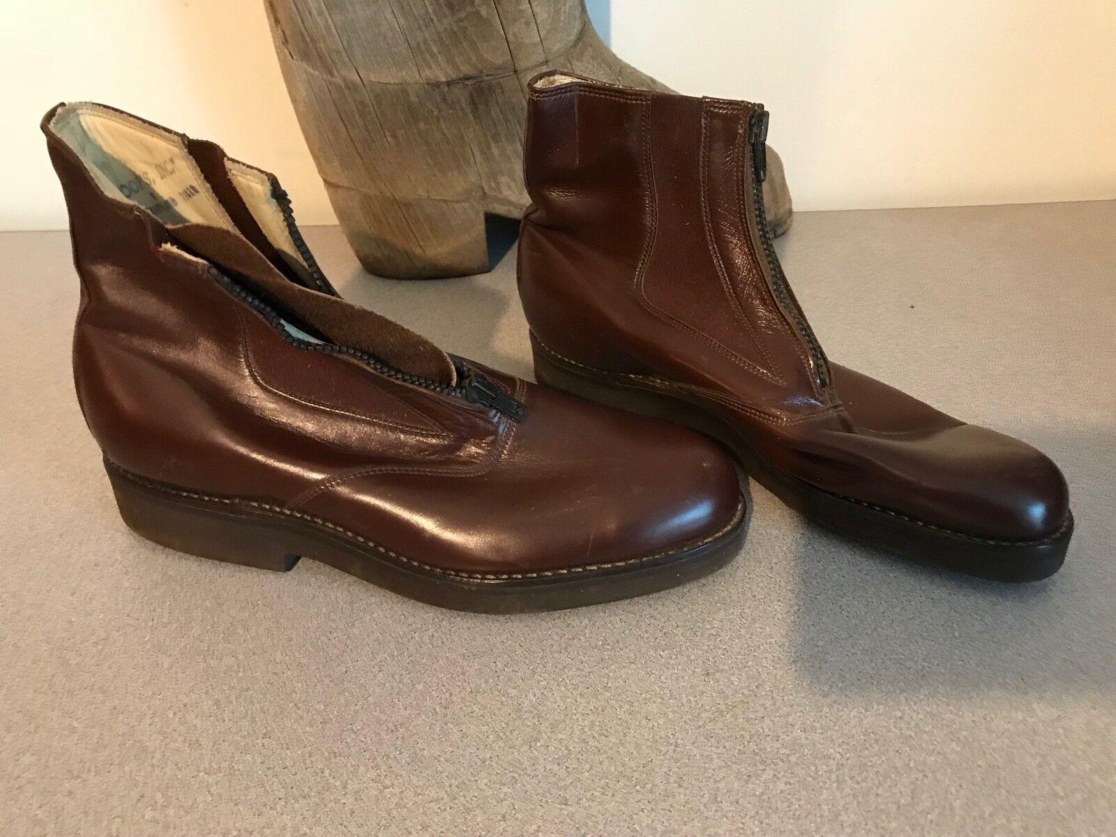 A.m. Kroop & Sons Sons Sons Cuero Cremallera Jodhpur botas para hombre mujer 5 7  a la venta