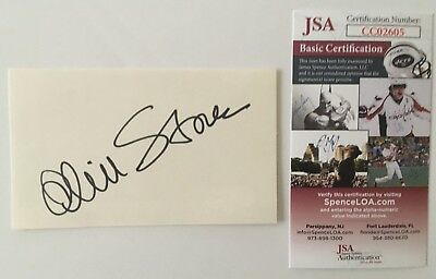 Oliver Stone Signed Autographed 3x5 Card Jsa Certified Movies