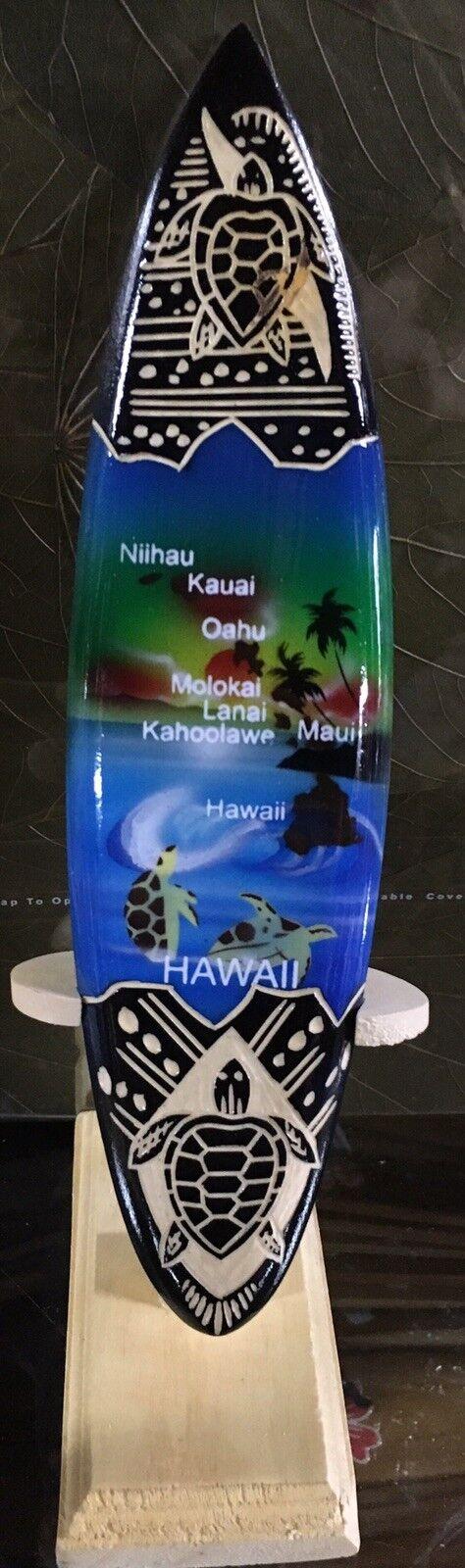 Lot of 5 Hawaiian Island Mini Airbrushed Surfboard with Stand 8  Hawaii