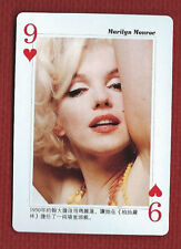 MARILYN MONROE CHINESE Star Playing Card Nine of Hearts Made in China by HCG