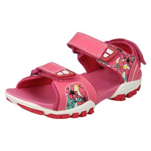 cuero cierre Zalmo y niñas Sandalias con Clarks de para lazo Word de de Pink gancho Clarks 5tOqOU