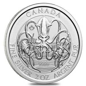 2020-2-oz-Royal-Canadian-Creatures-of-The-North-Series-The-Kraken-Silver-Coin-BU