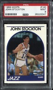 John-Stockton-1989-Hoops-Basketball-140-PSA-9-Mint