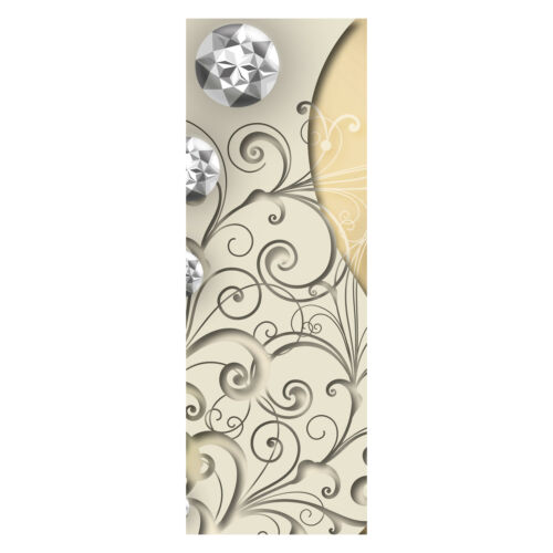 porte-Autocollants türbild, Türtapete Élégant Diamant abstraite Papier peint