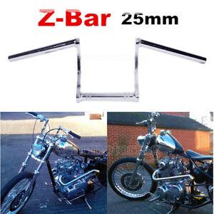 "Chrome 1/"" Inch Drag Z Bar Handlebar for Harley Touring Sportster XL Dyna Softail"