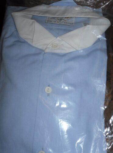 Men/'s wing tip smoking chemise bleu ciel blanc avec pointe collier de mariage de bal cruise