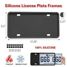 2pcs Silicone License Plate Frames Holder Universal American Auto Black Frame Us Fits Mitsubishi Diamante