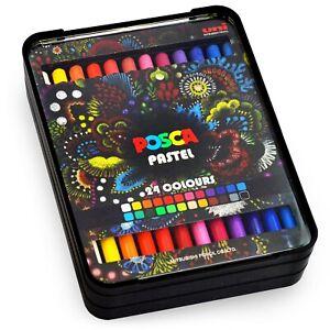 Uni-Posca-Pastel-Profesional-Cera-Colorante-Pastel-KPA-100-Regalo-Set-De-24
