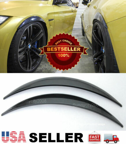"""1 Pair ABS Black 1/"""" Arch Extension Diffuser Wide Body Fender Flares For BMW"""