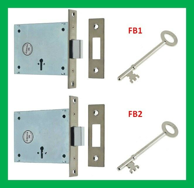 Keys London Fire Brigade 3 Lever Door Mortice Deadlock Dead Lock FB1 or FB2