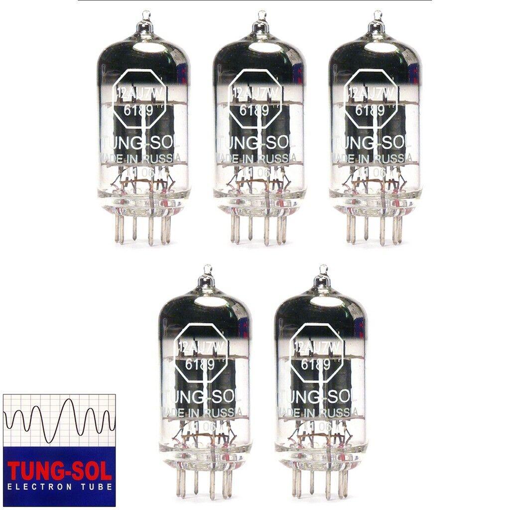 Nuevo Tung-sol reedición reedición reedición 12AU7 6189 ECC82 ganancia emparejado quinteto (5) los tubos de vacío  barato en alta calidad