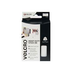 New Velcro Heavy Duty Stick On Strips 50mm x 100mm White 60240