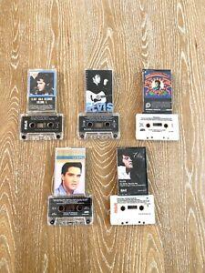 Elvis Presley Lot Of 5 Cassette Tapes Christmas, Gospel, Inspirational, Hits