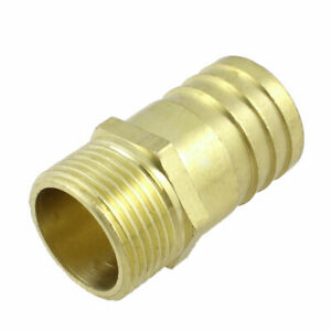 1-034-PT-Thread-32mm-Air-Gas-Tube-Hose-Barb-Fitting-Coupler-Adapter