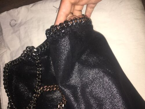 Fold Tote Stella Hardware In Over With Falabella Mccartney Bag Black Silver QCthsrdx