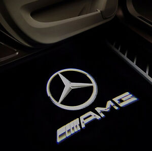 Mercedes door lights mercedes welcome light projection l for Mercedes benz amg logo