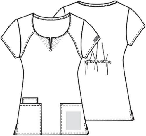 Cherokee Workwear Scrub Short Sleeve Round Neck 4824 ROYW Royal Free Shipping